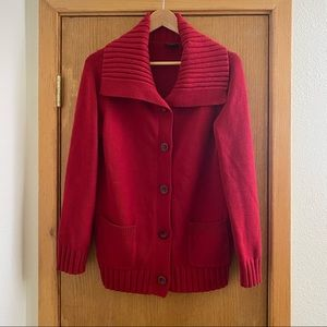 🌹 ANN TAYLOR • Beautiful Red Cardigan - Size L
